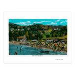 La playa de baño en Avalon, isla de Catalina Postales