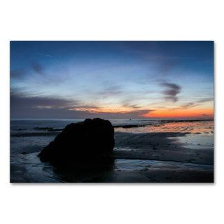 La playa de Handry de la puesta del sol