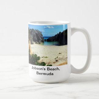 La playa de Jobson, Bermudas Taza