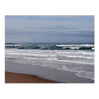 La playa de la ágata agita la postal