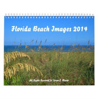 La playa de la Florida fotografía 2014 Calendario De Pared