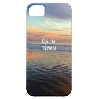 La playa de la puesta del sol de Chillwave calma iPhone 5 Fundas