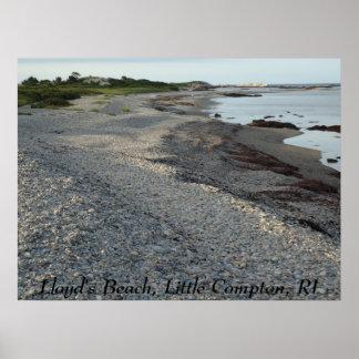 La playa de Lloyd, pequeño Compton, RI Poster