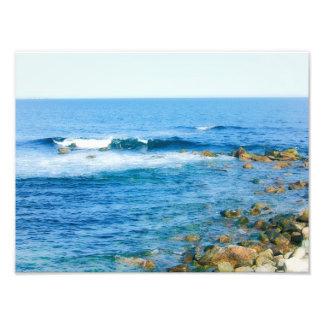 La playa de Narragansett agita la impresión de Fotografía