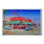 La playa de Newport de la cocina del cangrejo Posters