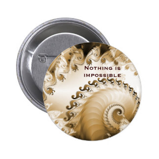 La playa de oro Shell nada es imposible Badge Pin