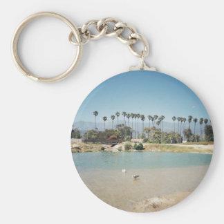 La playa de Santa Barbara Llavero Personalizado