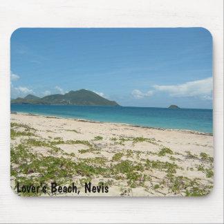 La playa del amante Nevis Alfombrillas De Ratón