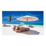 La playa del centro turístico plantillas de tarjetas de visita