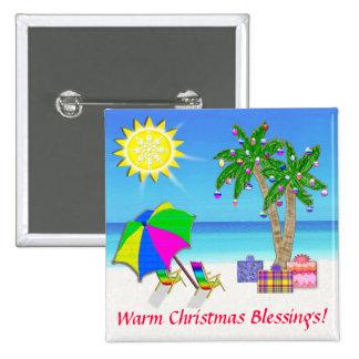 La playa del navidad abotona Pin, palmeras del nav