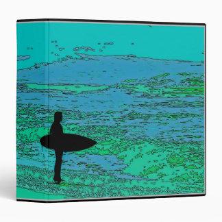 """La playa del océano de la persona que practica carpeta 1 1/2"""""""