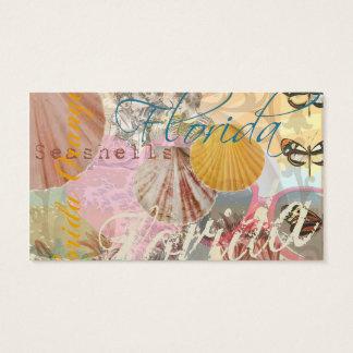 La playa del viaje de la Florida del vintage Tarjetas De Visita
