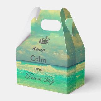 """la playa del vintage """"guarda calma y soña"""" cita caja para regalos"""
