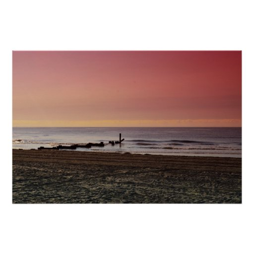La playa en Atlantic City Posters
