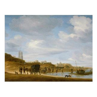 La playa en Egmond-an-Zee Postal
