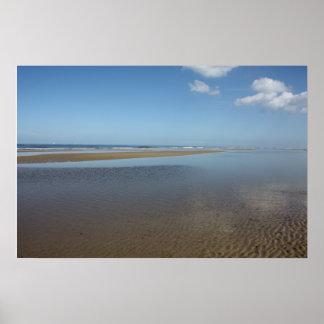 La playa en Egmond Zee aan Países Bajos Impresiones