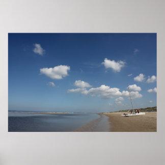 La playa en Egmond Zee aan, Países Bajos Póster