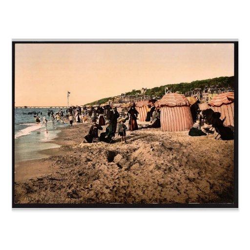 La playa en el baño del tiempo, Trouville, vinta d Tarjetas Postales