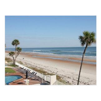 La playa en el golfo apuntala Alabama Tarjeta Postal
