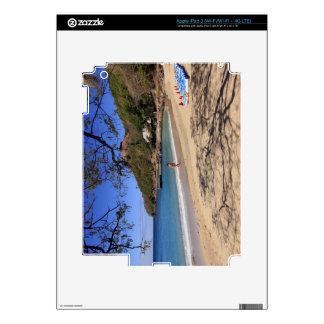 La playa en el parque nacional de la isla de la pa iPad 3 skins