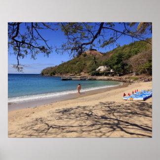 La playa en el parque nacional de la isla de la pa impresiones
