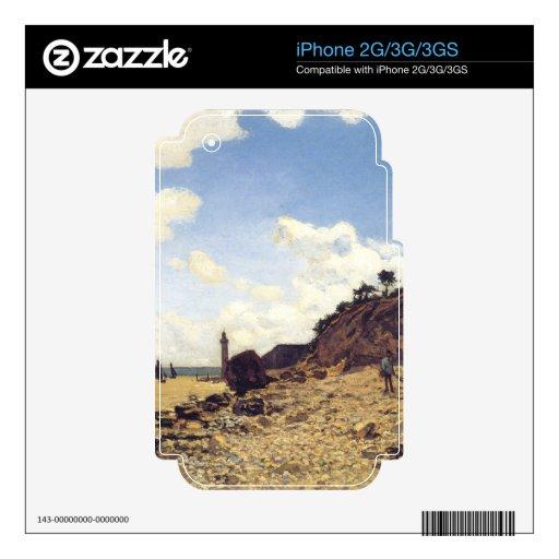 La playa en Honfleux - Claude Monet Skins Para iPhone 2G