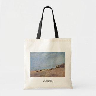 La playa en Rhyl por $cox D. Ä. David Bolsa