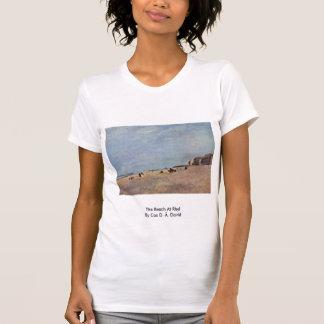 La playa en Rhyl por $cox D. Ä. David Camiseta