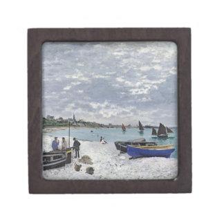 La playa en Sainte-Adresse, 1867 Cajas De Recuerdo De Calidad