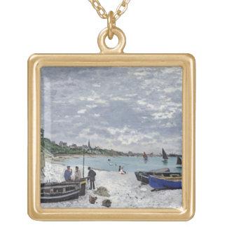 La playa en Sainte-Adresse, 1867 Pendientes Personalizados