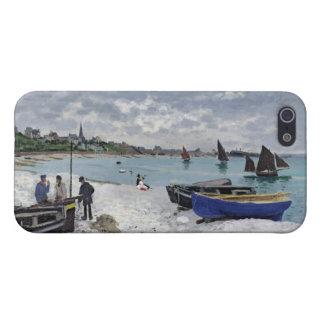 La playa en Sainte-Adresse, 1867 iPhone 5 Protectores