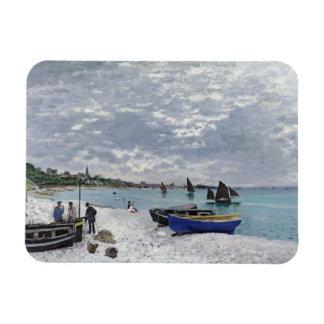 La playa en Sainte-Adresse, 1867 Imanes