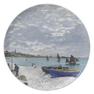 La playa en Sainte-Adresse, 1867 Plato