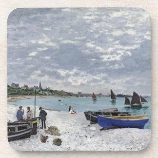 La playa en Sainte-Adresse, 1867 Posavasos De Bebida