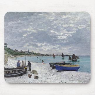 La playa en Sainte-Adresse, 1867 Alfombrillas De Ratón