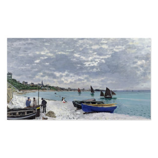 La playa en Sainte-Adresse, 1867 Plantillas De Tarjeta De Negocio