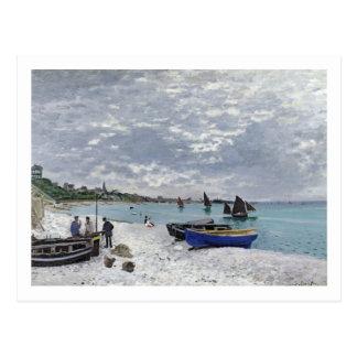 La playa en Sainte-Adresse, 1867 Postales