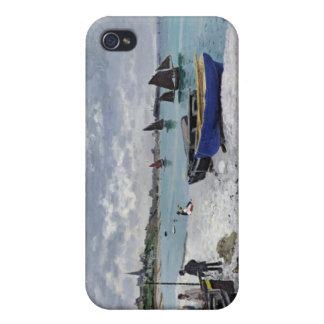 La playa en Sainte-Adresse - Claude Monet iPhone 4/4S Carcasas