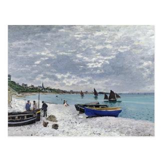 La playa en Sainte-Adresse - Claude Monet Tarjetas Postales