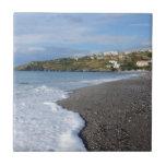 La playa en Scalea Azulejo Ceramica