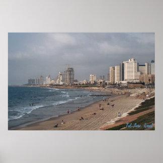 La playa en Tel Aviv Póster