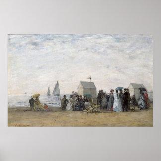 La playa en Trouville, 1867 Póster