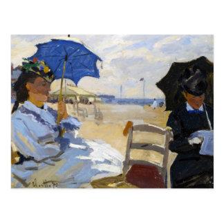 La playa en Trouville Claude Monet Postal