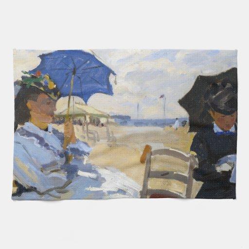 La playa en Trouville Claude Monet Toallas