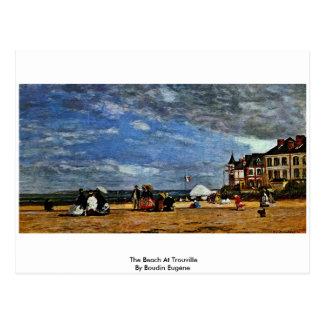La playa en Trouville de Boudin Eugène Postales