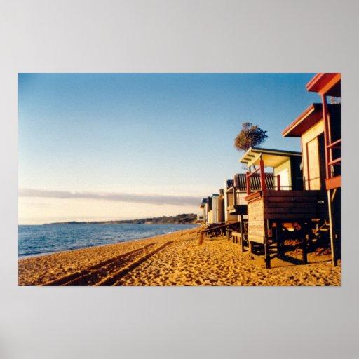 La playa encajona la foto poster