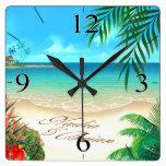 La playa exótica PIDE que DIBUJE SUS NOMBRES EN AR Reloj