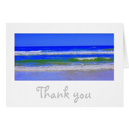 La playa le agradece las tarjetas