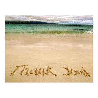 """¡La playa """"le agradece"""" observar Postal-Envía en l"""