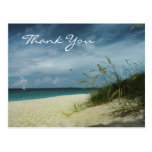 La playa le agradece postal